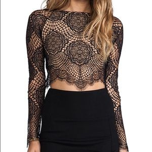 For Love and Lemons Grace Crip Top